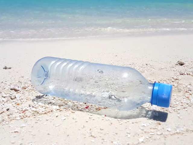 Message in a bottle on the Ganpatiphule beach