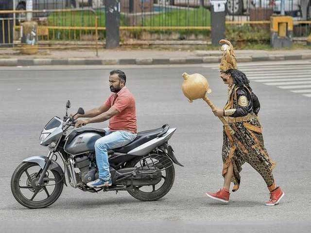 Guess Who Is Manning Bengaluru Roads To Ensure That You Were A Helmet