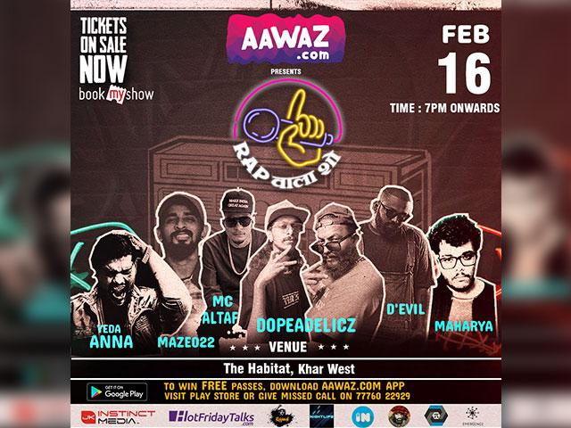 Awaaz.com's 'Rap Wala Show' Concert To Celebrate The Gully Boys Of Mumbai's Hip-Hop