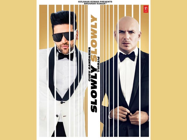 Singer Guru Randhawa And Pitbull Come Together Slowly Slowly