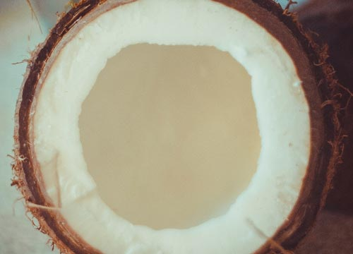 Coconut oil contains healthy fats and antioxidants