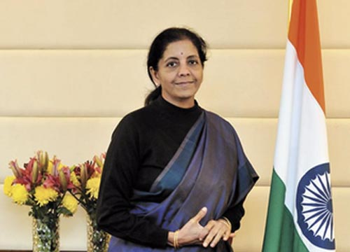 The Indian Union Finance Minister and our story's protagonist, Nirmala Sitharaman.