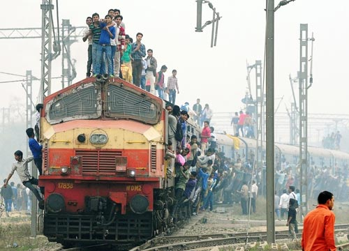 Indian Railways with modern vanar sena :P