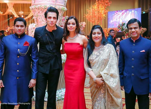 Sonu Sood with his fan Madara's family