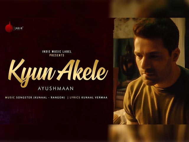 'Kyun Akele' is Indie Music Label's Latest Song By Ayushmaan