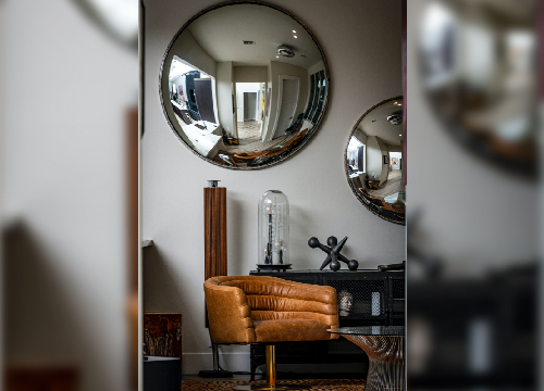 Mirrors add a stylish touch to your house